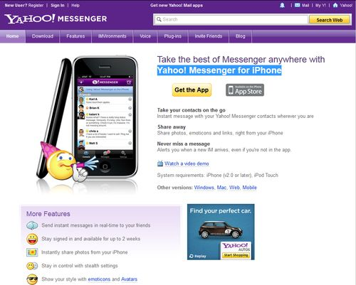 Yahoo! Messenger for iPhone