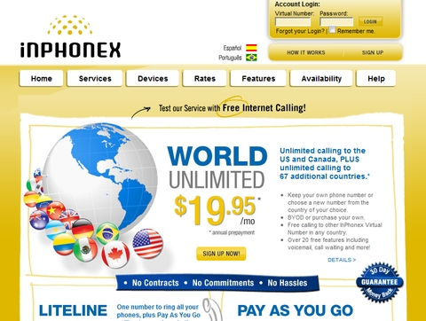 Inphonex VoIP Provider