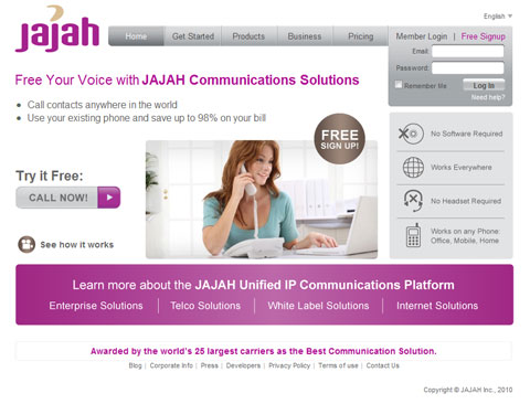 JAJAH Communications Solutions