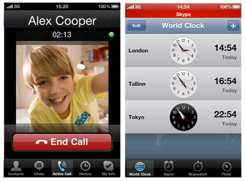 Skype for iPhone 4G